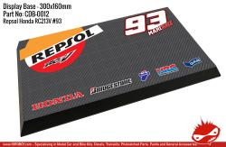 Honda Repsol RC213V #93 Marc Marquez Display Base for Model Kits 300x160mm