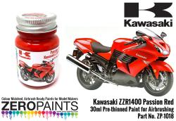 Kawasaki ZZR1400 Passion Red Paint 30ml
