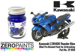 Kawasaki ZZR1400 Thunder Blue Paint 30ml