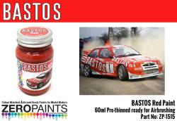 Bastos Red Paint for Bastos Sponsored Cars 60ml
