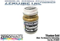 Titanium Gold Paint - 30ml - Zero Metal Finishes