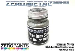 Titanium Silver  Paint - 30ml - Zero Metal Finishes