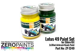 Lotus 49 Paint Set Green & Yellow (Ebbro) 2x30ml