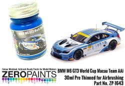 BMW M6 GT3 World Cup Macau Team Aai Blue Paint 30ml