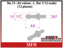 1:12 Air valves  Large [12 pieces] P1031