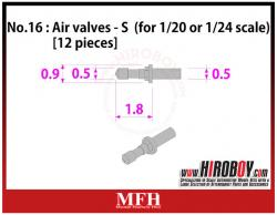 1:20/1:24 Air valves Large [12 pieces] P1032