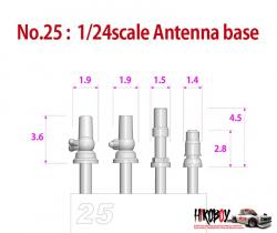 Metal Rivets Series No:25 - Antenna Base 4 Types x3 P1023