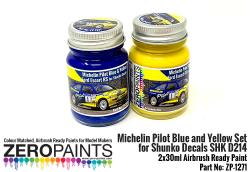 Michelin Pilot Blue & Yellow Paint Set 2x30ml for Shunko Decals SHK D214