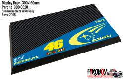 Mitsubishi Impreza WRC Valentino Rossi #46 - Display Base for Model Kits 300x160mm