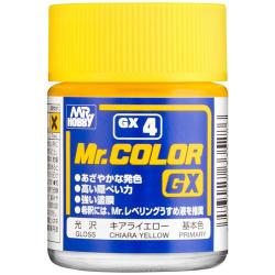 Mr Color GX Lacquer Chiara Yellow Gloss Lacquer Paint 18ml  #GX4