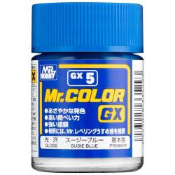 Mr Color GX Lacquer Susie Blue Gloss Lacquer Paint 18ml  #GX5