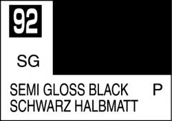 Mr Color Paint Semi Gloss Black 10ml # C092