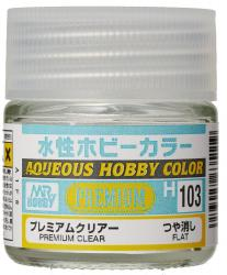Mr Hobby Aqueous Premium Clear  Flat (10ml) H103