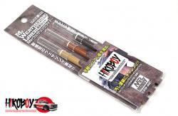 Mr Hobby Weathering Liner Rust Colour Set - Sand Brown, Mud Brown and Deep Brown