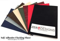 Multi Pack - Burgendy/Green/Brown/Black - Self Adhesive Flocking Sheets