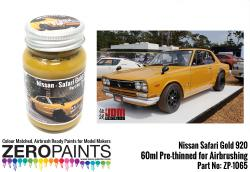 Nissan Safari Gold 920 Paint 60ml (240Z - Hakosuka) Ltd Edition