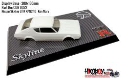 Nissan Skyline GT-R KPGC110 - Ken Mary - Display Base for Model Kits 300x160mm