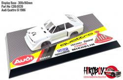 Audi Quattro S1 1986 Display Base for Model Kits 300x160mm