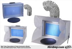 Portable Extractor Spray Booth for Airbrushing with LED-lights