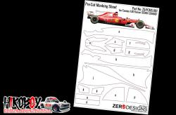 Pre-Cut Masking Sheet for Tamiya Scuderia Ferrari SF70H (20068)