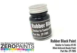 Rubber Black Paint 30ml - Similar to Tamiya XF-85