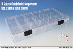 Small Parts Storage Box (21x11x3cm)