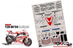 Spare Tamiya Decal Sheet 1:12 Yamaha YZR-M1 2004 - 14100