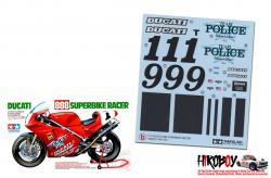 Spare Tamiya Decal Sheet B 1:12 Ducati 888 Superbike Racer - 14063