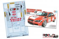 Spare Tamiya Decal Sheet A 1:24 Mitsubishi Lancer Evolution VII WRC 24257