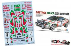 Spare Tamiya Decal Sheet 1:24 Castrol Celica - 24125