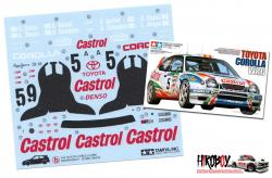 Spare Tamiya Decal Sheet B for Toyota Corolla WRC Castrol - 24209
