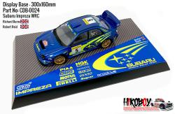Subaru Impreza WRC Richard Burns - Display Base for Model Kits 300x160mm