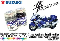 Suzuki Hayabusa - Pearl Deep Blue/Sonic Silver  Paint Set 2x30ml