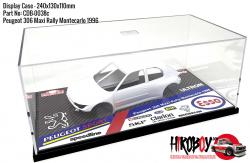 Peugeot 306 Maxi Rally Montecarlo 1996 Display Case for Model Kits 240x130x110mm