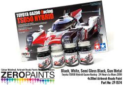 Toyota TS050 Hybrid Gazoo Racing  Paint Set 4x30ml