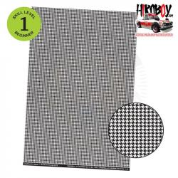Upholstery Pattern Decals - Houndstooth Pattern 2 - Clear Background