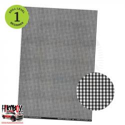 Upholstery Pattern Decals - Plaid pattern (Black & White) Pattern 4