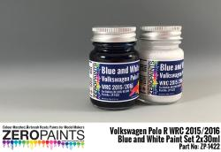 Volkswagen Polo R WRC 2015/2016 - Blue and White Paint Set 2x30ml