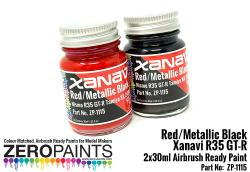 Xanavi/Motul Nismo GT-R (R35) Red/Met Black Paint Set 2x30ml