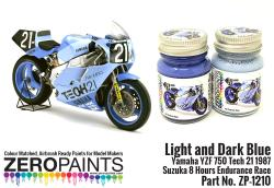 Light and Dark Blue Yamaha YZF 750 Tech 21 Paint Set 2x30ml