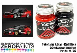 Yokohama Advan Sponsored - Red and Black Paint Set 2x30ml