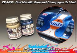 Gulf Metallic Blue and Champagne Paint Set 2x30ml