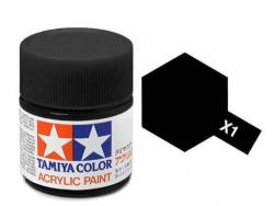 Tamiya Acrylic Mini X-1 Black (Gloss) - 10ml Jar
