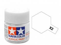 Tamiya Acrylic Mini X-2 White  (Gloss) - 10ml Jar