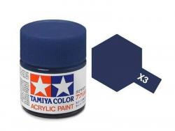 Tamiya Acrylic Mini X-3 Royal Blue (Gloss) - 10ml Jar