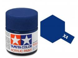 Tamiya Acrylic Mini X-4 Blue (Gloss) - 10ml Jar