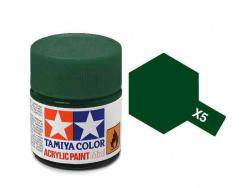Tamiya Acrylic Mini X-5 Green  (Gloss) - 10ml Jar