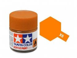Tamiya Acrylic Mini X-6 Orange  (Gloss) - 10ml Jar