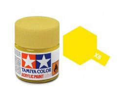 Tamiya Acrylic Mini X-8 Lemon Yellow (Gloss) - 10ml Jar