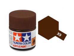 Tamiya Acrylic Mini X-9 Brown (Gloss) - 10ml Jar